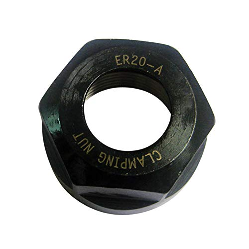 Driak ER20-A Black A type Collet Clamping Nut for CNC Milling Chuck Holder Lathe