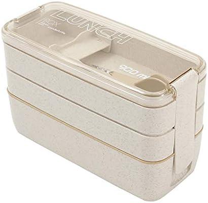 rekkles Box Lunch 3 Capa de Trigo Cajas de Paja Platos de ...