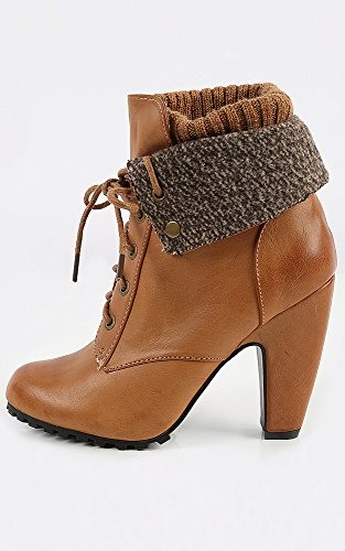 Womens Bamboo Mozza-19l Leatherette Knit Cuff Booties Natural 7.5 New: In Box