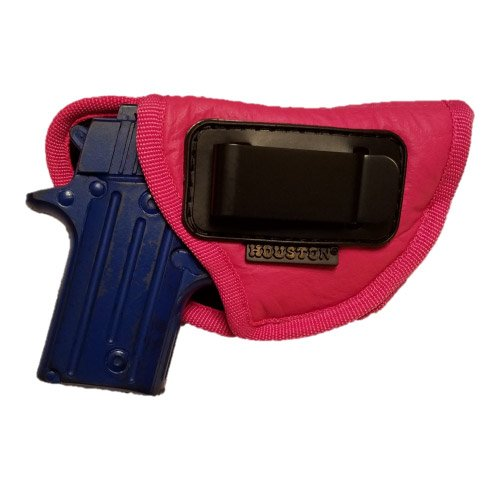 Pink ECO LEATHER Gun Concealment Holster Inside The Waist With Metal Clip Fits S&W BodyGuard, Taurus TCP, Sig P238, Jimenez JA, PPK380, RUGER LCP II (right) (CHPK-71-RH) (Taurus Pink 38 For Holsters Gun)