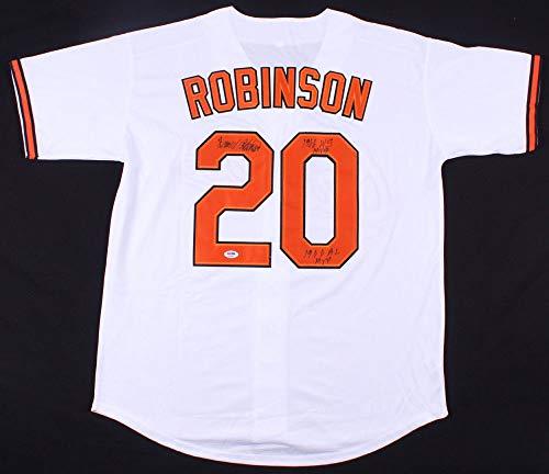 Frank Robinson Autographed Signed Orioles Jersey (Size XL) Inscribed 1966 Ws Mvp1966 Al Mvp PSA/DNA Authentic Memorabilia