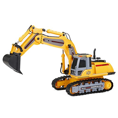 Remote Control Indoor Outdoor Power Horse Yellow Excavator