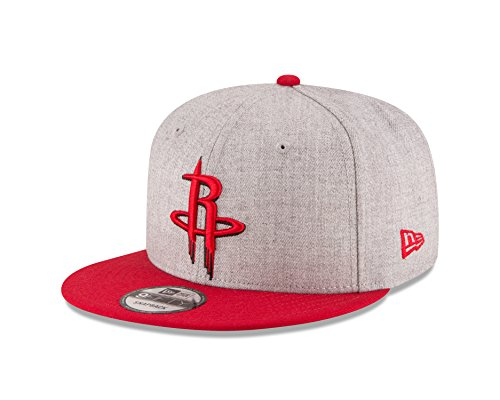 New Era NBA Houston Rockets Men's 9Fifty 2Tone Heather Snapback Cap, One Size, Heather Gray