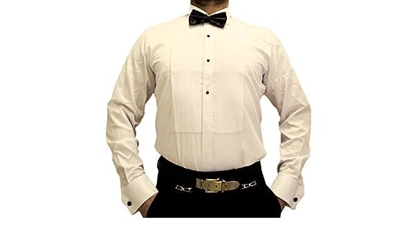 Farrabi - Camisa Formal - Básico - Cuello ala - Manga Larga - para Hombre Beige M/41: Amazon.es: Ropa y accesorios