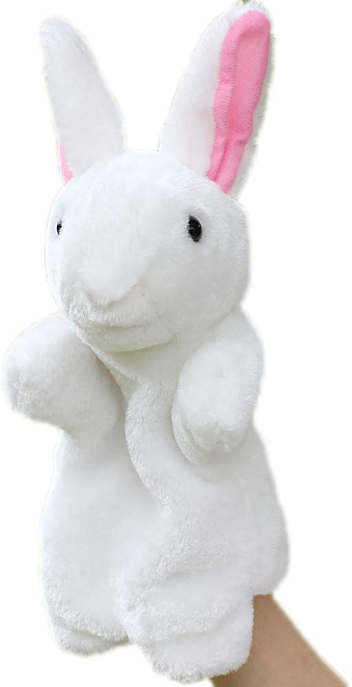 gr/ün Pl/üsch Hase Handpuppe in Hasenform FBGood Handpuppe niedliches Spielzeug Charmant Handpuppe Spielzeug Tiere Vert