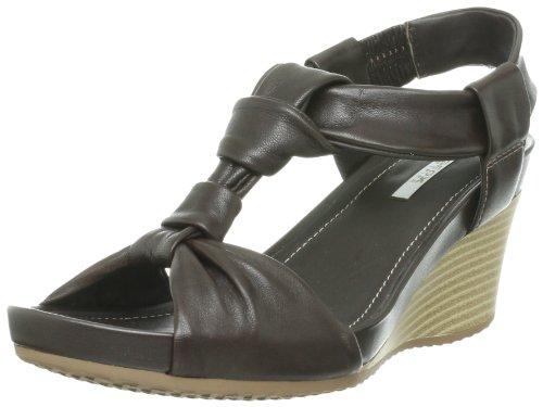 Geox Chaussures à talon compensé 40, marron foncé