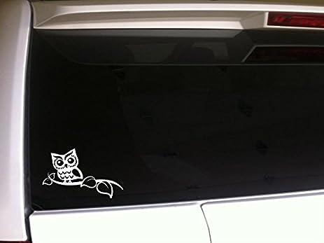 Amazoncom Owl On A Tree Limb Vinyl Sticker Decal E Owls Car - Owl custom vinyl decals for car