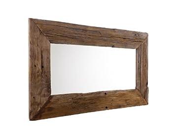 Miroir mural 150 cm vieux bois miroir Chªne massif antique bois