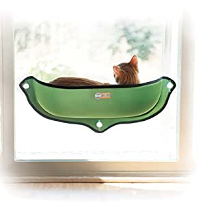 "K&H Pet Products EZ Mount Window Bed Kitty Sill Green 27"" x 11"""