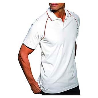 Santhome Orange Shirt Neck Polo For Men