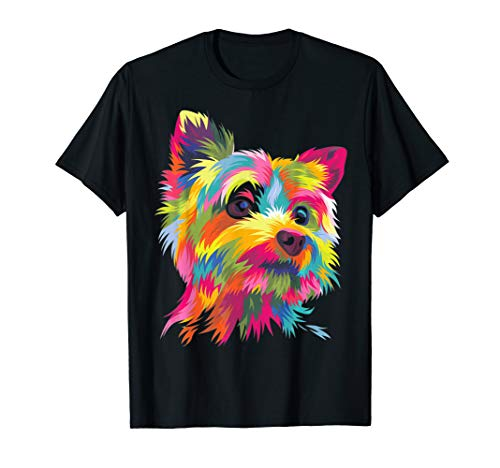 Yorkshire Terrier Shirt Funny Yorkie Pop Art Popart Dog Gift ()