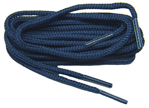 Golf Oxford (proGOLFER(tm) Casual Oxford 2mm round golf laces Shoelaces Shoestrings - (2 pair pack) (36 Inch 91 cm, Navy Blue))