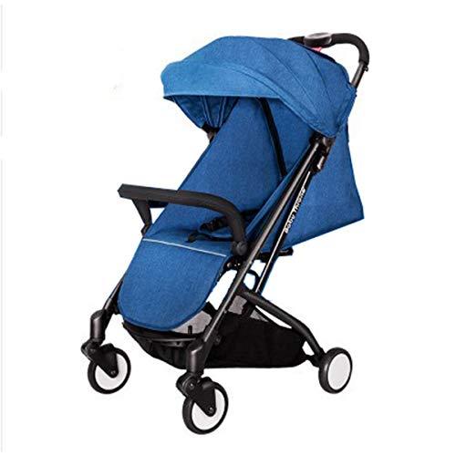 Dapang Infant Baby Stroller for Newborn and Toddler - Convertible Bassinet Stroller Lightweight Folding Single Baby Carriage Toddler Seat Stroller Luxury Pram Stroller,Blue (Aluminium Radiation Bottle)