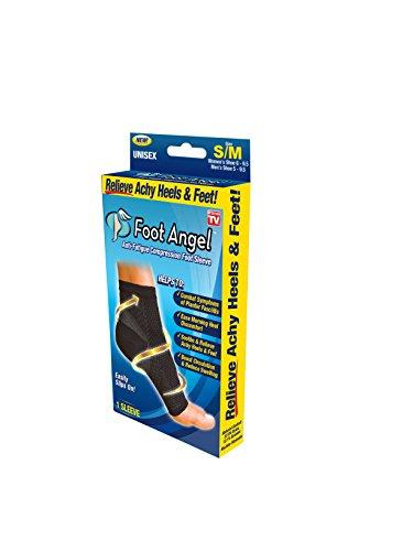 Foot Angel Plantar Fasciitis Compression Sleeve (Small/Medium) (On Flat As Ball Soccer Tv Seen)