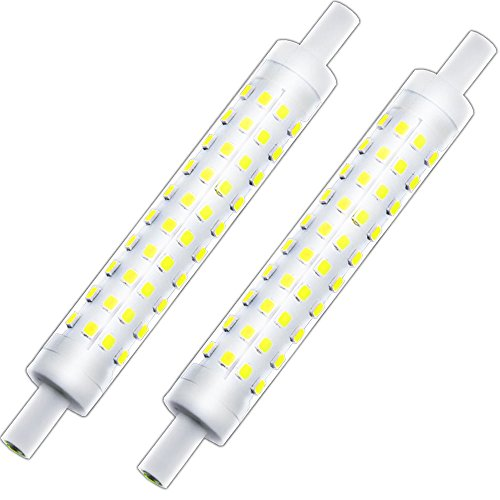 (J Type 118mm Double Ended T3 R7S Halogen Bulb Replacement, Klarlight J118 LED Dimmable R7S Base Light Bulb 10 Watt Warm White Tube Light Bulbs, 75-100W Halogen Equivalent r7s Flood Lights)
