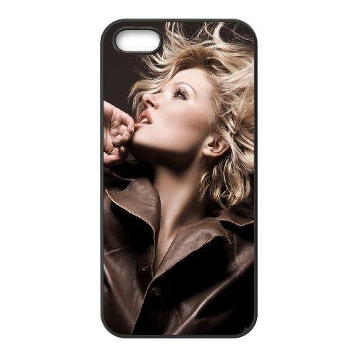 Blonde Model Style Photo Shoot 86496 coque iPhone 4 4S cellulaire cas coque de téléphone cas téléphone cellulaire noir couvercle EEEXLKNBC23675