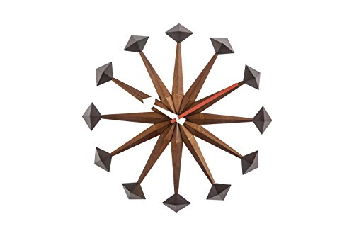 Stilnovo The Sicily Mid Century Wall Clock, Wood