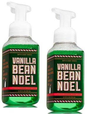 Bath and Body Works 2 Pack Vanilla Bean Noel Gentle Foaming Hand Soap 8.75 Oz (Foaming Bean Vanilla)