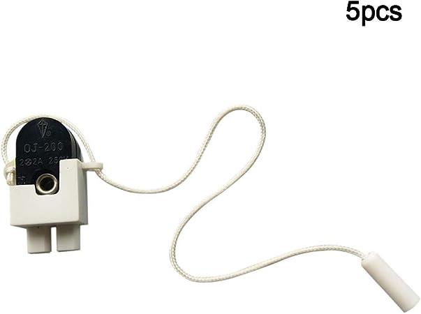 As Show Tama/ño Libre Ganquer 5 Unidades de Cadena de candelabro Ventilador de Techo M200 Tirador Interruptor de Cierre Universal de Pared luz Cierre Interruptor l/ámpara Interruptor