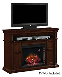 """ClassicFlame 28MM4684-M313 Wyatt TV Stand for TVs up to 65"""", Vintage Mahogany (Electric Fireplace Insert sold separately) by ClassicFlame"""