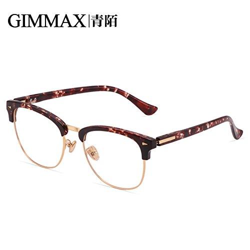 Marco azul protección de negro plateado luz las contra la Frame radiaciones Gold gafas Tofu Antique KOMNY Gafas vidrios contra Pudding planos brillante Tqwt6PvIx
