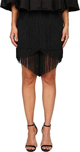 Gabriela Cadena Women's Lace Fringe Shorts, Black, 6 X 13 by Gabriela Cadena