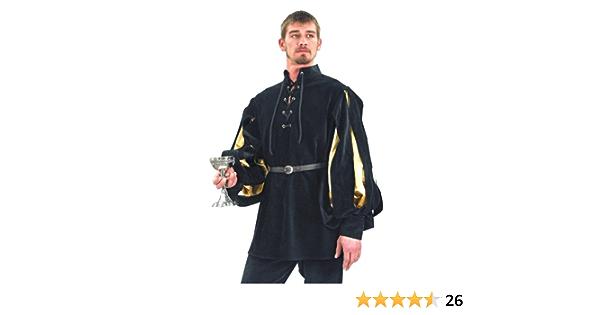 Mens Renaissance Cavalier Velvet Shirt
