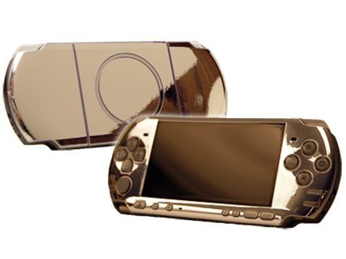 Psp Silver Video Game - Sony PlayStation Portable 3000 (PSP-3000) Skin - NEW - SILVER CHROME MIRROR system skins faceplate decal mod