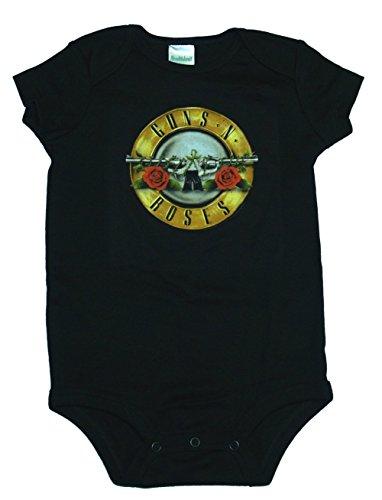 Band Onesie (Kiditude Guns N Roses Baby Onesie, Black (12 Months))