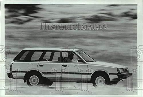 Vintage Photos 1986 Press Photo Man Driving Subaru 4WD Turbo Station Wagon - mjt19549 (Best 4wd Station Wagon)