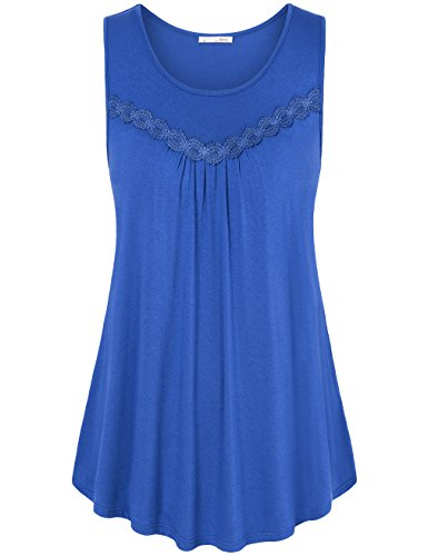 Messic Womens Sleeveless Cotton Blouses