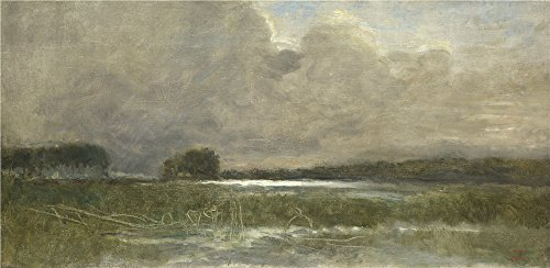 Oil Painting 'Jean Baptiste Camille Corot The Marsh At Arleux', 12 x 25 inch / 30 x 62 cm , on High Definition HD canvas prints is for Gifts And Bar, Basement And Foyer Decoration, ideas - Classroom Lock Plymouth