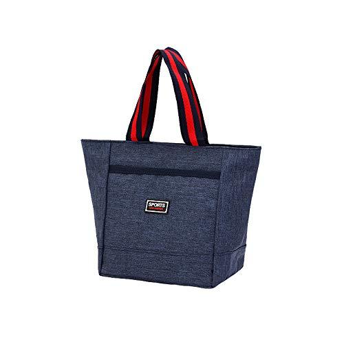 rosso portatile Ynnb quadrata Borsa piccola porta sacchetti da in lavoro pranzo trucco pranzo da lavoro porta tela blu borsa per x1xUrnwgq