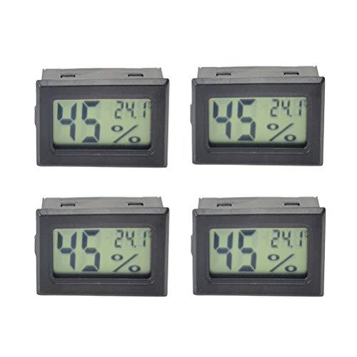 Yardwe 4 unids Mini Reloj meteorológico Digital Interior Puerta Temperatura Humedad estación de pronóstico del Tiempo...