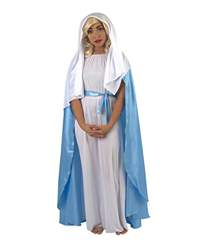 (Mother Mary Magdalene Costume, White/Blue Adult HC-017)