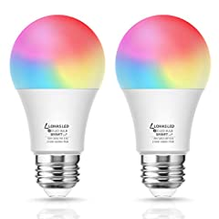 Specifications:  Brand: LOHAS Power: 8W (60w equivalent) Brightness: 650Lm Color temperature: RGB+6000K+2700K Input Voltage: 110V-240V, 50/60HZ Material: Aluminum & Plastic Size:118*60mm Beam angle: 240 degree Warranty: 12 Months Package ...