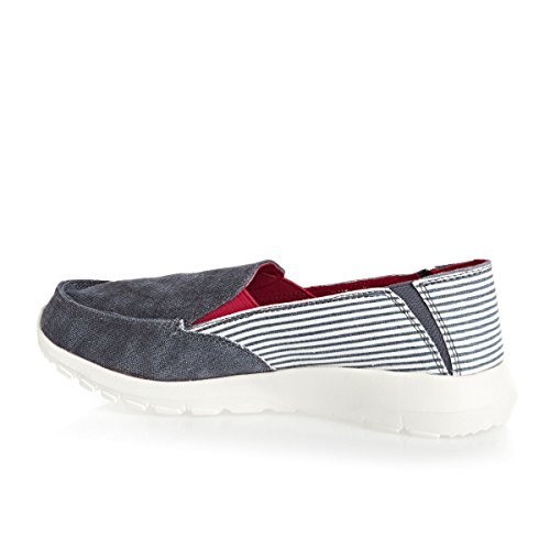 Ava Slip Marine Women's On Grey Stripe Shoes Dude qxp7wEp