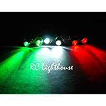 RC Plane Navigational LED Lights 2 white, 2 Green and 2 Red 3mm For Heli Drone multi propeller Navi DJI Phantom