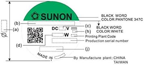 Lüfter 12v Dc 0 8w 40x40x10mm 12m H 6100u Min 12m H Sunon Ee40101s21000u999 Beleuchtung