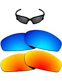 4d1decc531 Replacement Lenses Different Colors for Oakley Split Jacket Sunglass  Polarized Pack of 2