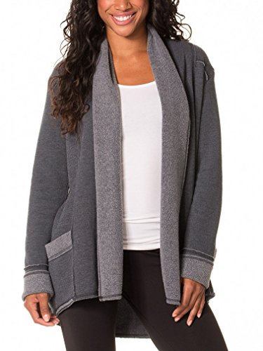 Hard Tail Sherpa Slouchy Cardigan, Black/Black, Small