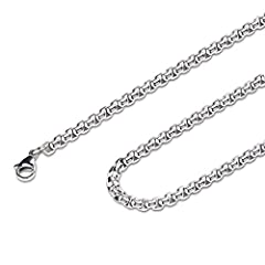 The stainless steel chain is great gifts for your family or friend to cherish their loved one to keep their memories alive with them.The curb chain necklace is made from stainless steel, 2~7mm wide and 8~38inch long for choice, depending on t...