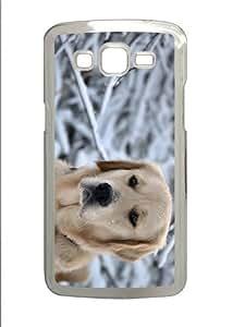 cover make Sad Labrador PC Transparent case/cover for Samsung Galaxy Grand 2/7106
