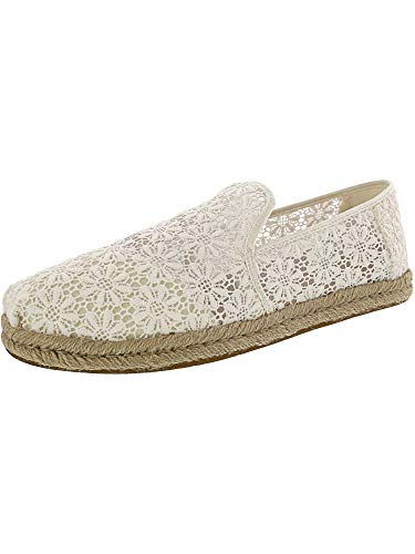 - TOMS Women's Deconstructed Alpargata Rope Natural Floral Lace 9 B US
