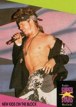 New Kids on the Block trading card (Boy Band) 1991 Proset Super Stars Musicards UK #98 Donnie Wahlberg