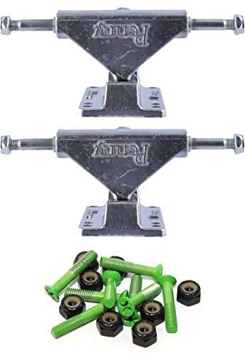 Penny スケートボード ミニ 光沢仕上げ スケートボード トラック 1インチ グリーン 取り付け金具付き   B07KY2376Q