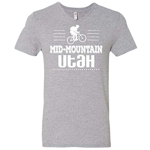 inktastic Mid Mountain Utah Men's V-Neck T-Shirt XX-Large Athletic Heather