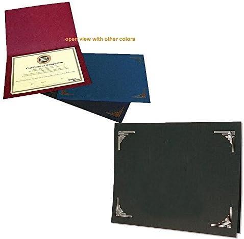 "Black 8.50/"" X 11/"" Southworth Certificate Jacket And Holder Letter Linen"