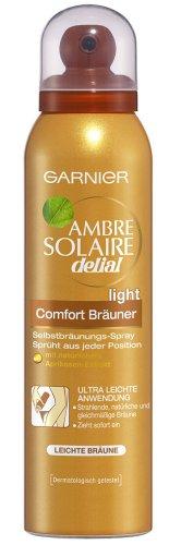 Garnier Ambre Solaire Comfort Bräuner Spray Light, 1er Pack (1 x 125 ml) C08668