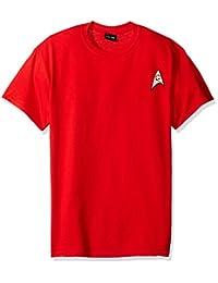 Star Trek TV Series Scotty Engineering Uniform Red Adult T-Shirt Tee